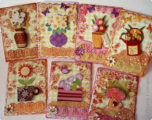 """Новая цветочная серия """"Краски лета"""" из 10 карточек.  Серия дополнена и закрыта. фото 1"""