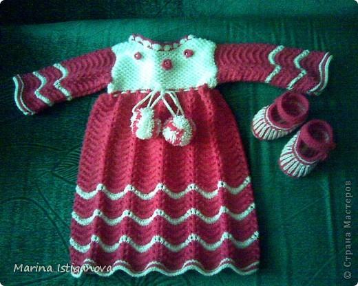 Платье с пинетками для малышки фото 1