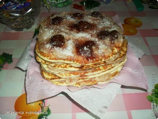Вот такой тортик можно приготовить за небольшое количество времени. Дешево и сердито!!!!! фото 1