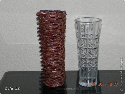 Плела по такой вазочке фото 1