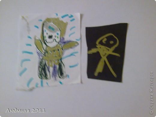 Карточки моего сына (с чего все начиналось....). Карточки не для обмена (просто хвастаюсь работой сынишки). Это мой младший сынишка(сейчас ему 6 лет) делал после того, как я узнала про АТС карточки......Я только вырезала саму карточку нужного размера..... фото 5