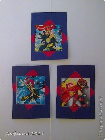 Карточки моего сына (с чего все начиналось....). Карточки не для обмена (просто хвастаюсь работой сынишки). Это мой младший сынишка(сейчас ему 6 лет) делал после того, как я узнала про АТС карточки......Я только вырезала саму карточку нужного размера..... фото 2