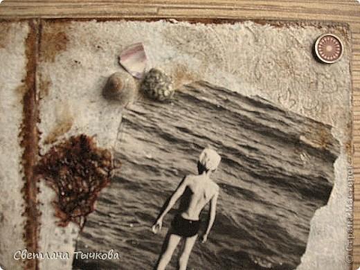 Был обычный китайский фотоальбом,но уже подвыцветший,с неинтересным рисунком.В нём с большой любовью собраны детские фото моего любимого мужчины. фото 4