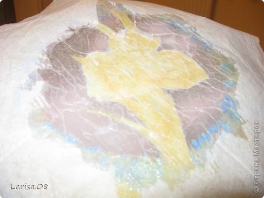 Ангелочки. Обратный декупаж. Салфетки 2-х видов, краска акриловая, одношаговый кракелюр, контуры, лак акриловый. фото 9