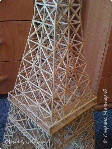 Поделка изделие Макет модель Эйфелева башня Спички фото 3.