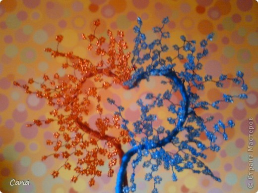 Бисерное сердечное деревце фото 1