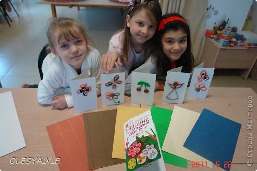 Квилинг- девочкам очень понравился!Выполняли из гофр. картона. фото 2