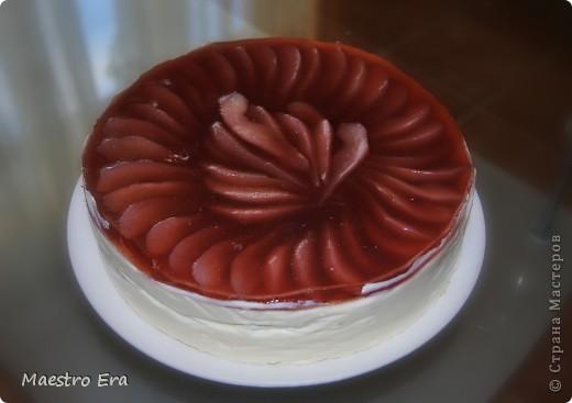 Тортик с винными грушами (с глинтвейном). фото 1