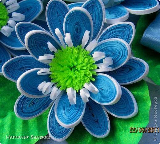 Здравствуйте, уважаемые жители Страны Мастеров!!! Представляю вашему вниманию цветочную композицию из голубых цветов. Размер работы 20*30 см.  фото 7