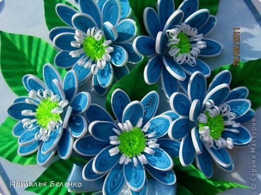 Здравствуйте, уважаемые жители Страны Мастеров!!! Представляю вашему вниманию цветочную композицию из голубых цветов. Размер работы 20*30 см.  фото 6
