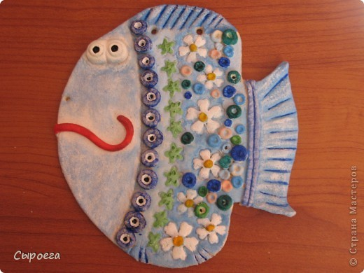 Рыбешка из соленого теста