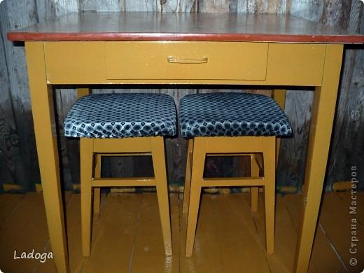 это конечный результат декора. сначала делала только стол, но в процессе поняла, что ему будет скучновато одному.....  фото 4
