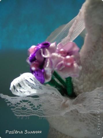 Коты-молодожёны сшиты из белого флиса. фото 7
