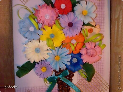 Аппликация букеты цветов из бумаги своими руками