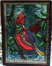 В Стране Мастеров встретила такую работу http://stranamasterov.ru/node/186960?c=favorite, очень понравилась техника,спасибо автору.  Стали использовать вместо витража, работы получаются просто замечательные!!!А вместо фона цветная гофрированная бумага или упаковочная голографическая фольга. фото 6