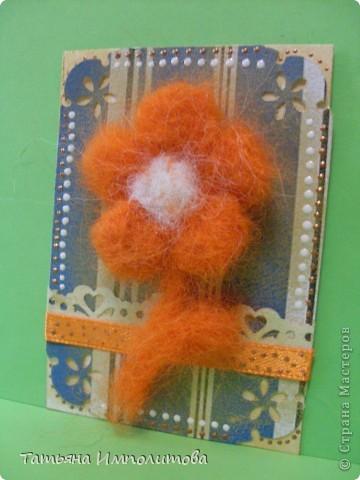 Цветы(из шерсти) фото 6