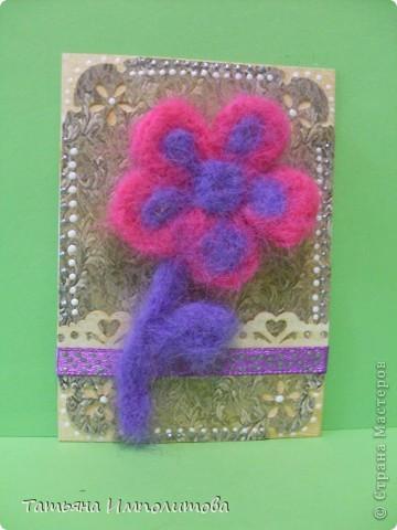 Цветы(из шерсти) фото 4