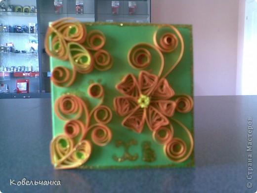 Мини-открытка (6х6см в сложеном виде). Подарок на Пасху. фото 4