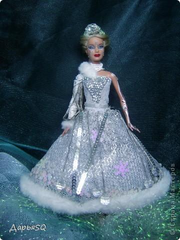 Обычная барби в спортивном костюме...мне хотелось сделать что то, что напоминало о детстве..о сказках..о зиме.Получилась величественная кукла со своей историей фото 1