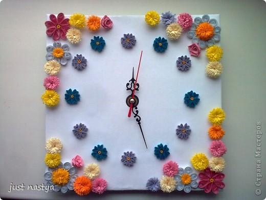 Давным-давно сделала часы себе в комнату.Вот выношу на ваш суд! фото 1