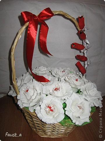 В этой корзинке коробка конфет Рафаэлло. фото 1