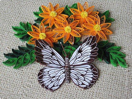 У меня появилась ещё одна бабочка.  Размер 7х8 см. Полоски 1,5 мм. фото 2
