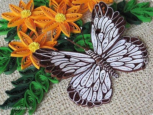 У меня появилась ещё одна бабочка.  Размер 7х8 см. Полоски 1,5 мм. фото 3