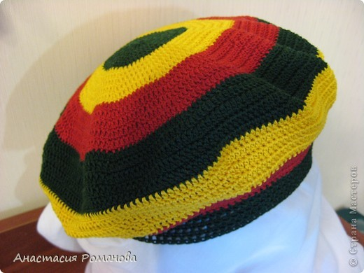 Вязание крючком - Летний берет в стиле регги.