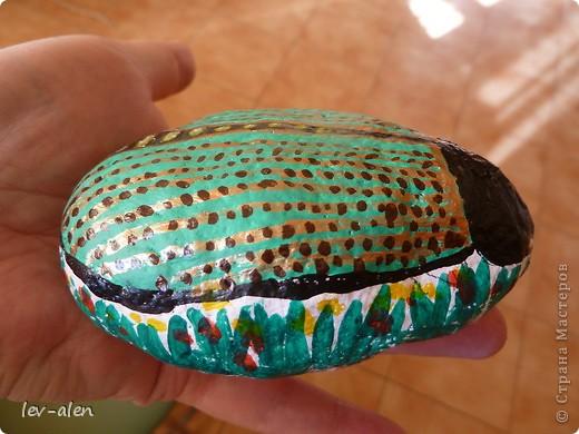 На даче еще нашла камешки побольше, правда не совсем идеально подходящей формы, но хоть такие...  фото 4