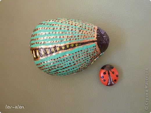 На даче еще нашла камешки побольше, правда не совсем идеально подходящей формы, но хоть такие...  фото 5