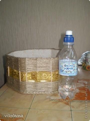 вот такую шкатулку сплела.идею подсмотрела у ФИЗАЛИИ.  фото 3