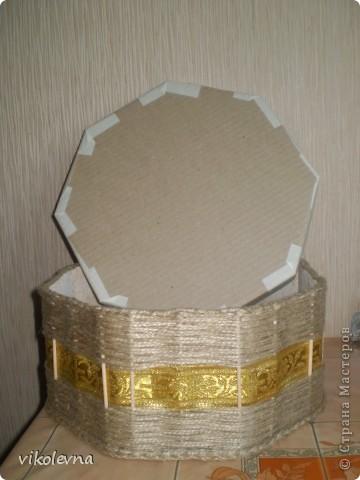 вот такую шкатулку сплела.идею подсмотрела у ФИЗАЛИИ.  фото 5