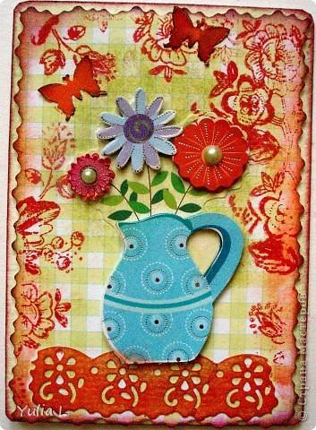 """Новая цветочная серия """"Краски лета"""" из 10 карточек.  Серия дополнена и закрыта. фото 9"""