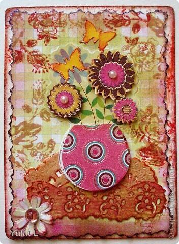 """Новая цветочная серия """"Краски лета"""" из 10 карточек.  Серия дополнена и закрыта. фото 11"""