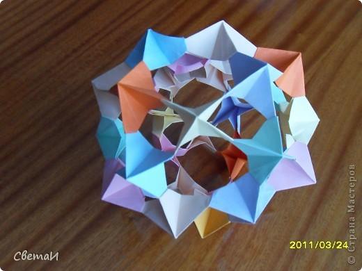 """Иногда я пробую изготовить поделки в разной технике. Вот, что получилось... """"Лебеди"""" (оригами модульное). фото 3"""