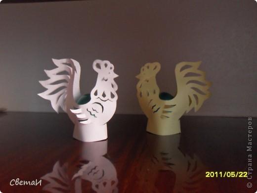 """Иногда я пробую изготовить поделки в разной технике. Вот, что получилось... """"Лебеди"""" (оригами модульное). фото 2"""