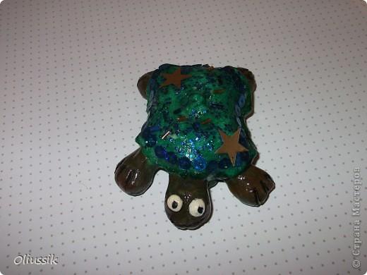 Эту черепашку мы делали с сыном вместе.Фигурку он сам а уж декорировали вместе.