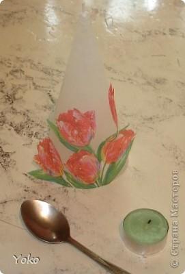 Третья моя свеча. Первый раз попробовала тенику - декупаж.  фото 4