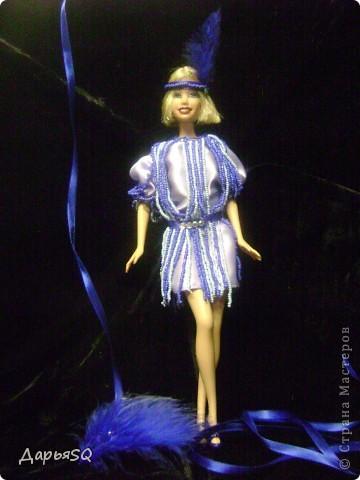 Кукла замерла..как будто в движение...костюм с стиле 20х добавляет праздника в образ куклы фото 1