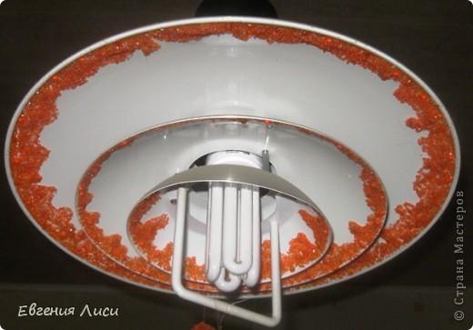 Декор готовой люстры бисером, стеклярусом, бусинками после ремонта на кухне. Блестит!!! фото 1
