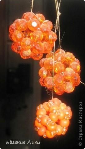 Декор готовой люстры бисером, стеклярусом, бусинками после ремонта на кухне. Блестит!!! фото 3