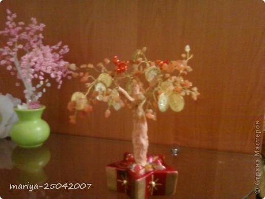 бисерное дерево в подарок фото 2