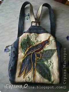 """Снова """"утилизация"""" старых джинсов, и рюкзачок  Катюшке для сменной одежды (для физкультуры, бассейна и хореографии) ГОТОВ! фото 2"""