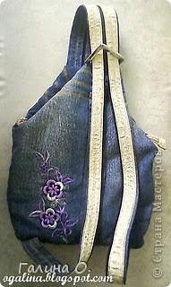 """Снова """"утилизация"""" старых джинсов, и рюкзачок  Катюшке для сменной одежды (для физкультуры, бассейна и хореографии) ГОТОВ! фото 3"""