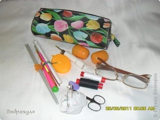 Вот такой пенал для рукоделия я всегда ношу в своей дамской сумочке. фото 4