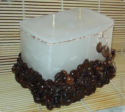 Вторая свеча - кофейная.