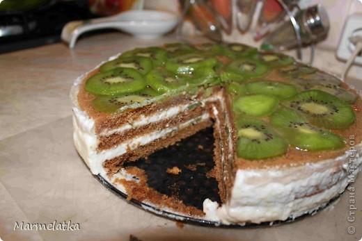 Торт без выпечки с киви фото 1