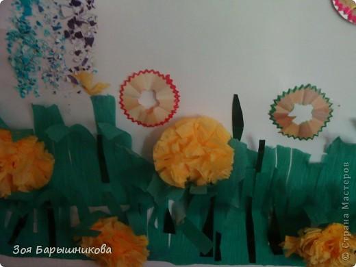 Вот такую коллективную работу мы сделали с детьми средней группы детского сада. фото 5