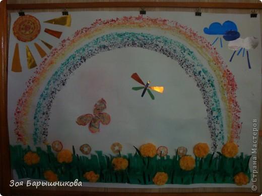 Вот такую коллективную работу мы сделали с детьми средней группы детского сада. фото 1