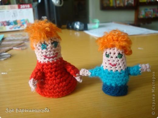 Эти куколки связаны крючком для кукольного театра. фото 1